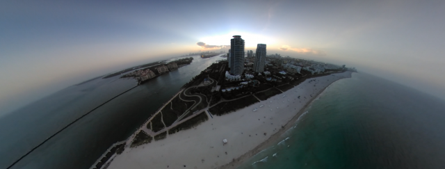 Drone 360 video footage