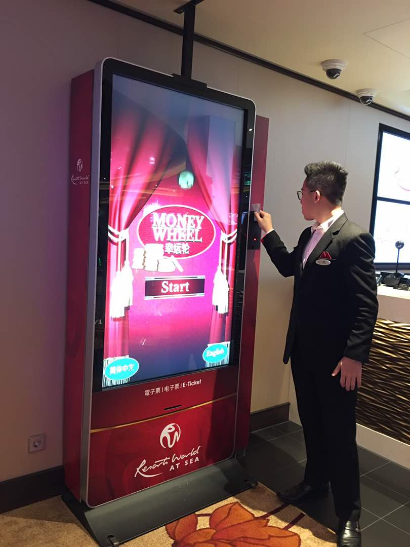 Resorts World at Sea deploy an interactive kiosk called the