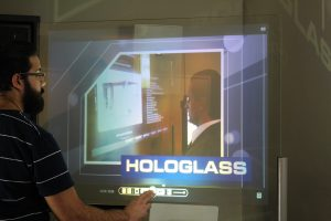 Interactive Hologlass